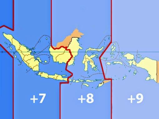 Pembagian waktu di indonesia, WIB WITA dan WIT